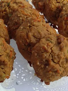 Hazelnut Carrot Breakfast Cookies w/seeds Breakfast Cookies, Carrots, Seeds, Muffin, Goodies, Gluten Free, Vegan, Ethnic Recipes, Food