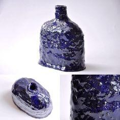#ceramic #myproduction #deepblue • • #ceramic #art #decoration #handmade #pottery #blue #clay