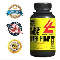 Elite Nitric Oxide AND LArginine Supplement  120 Capsules to Increase Performance Gain Lean Hard Muscle  Boost Endurance  Top PreWorkout Booster GUARANTEES Best Results MarketWide * Want to know more, click on the image.