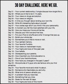 30 day writing challenge - full of writing prompts/ideas. I'm doing this 'instead' of NaNoWriMo - at the very least it will keep me writing on a regular basis all month: