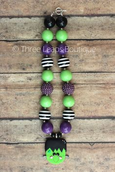 Frankenstein Chunky Bead Necklace