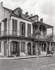 "New Orleans circa 1937. ""1301 Royal Street."" Longtime residence of A. Fern. 8x10 inch acetate negative by Frances Benjamin Johnston"