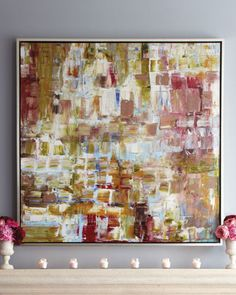 """""""Pretty in Pinks"""" Giclee at Neiman Marcus."""