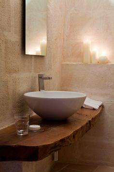 Modern Sink   Natural Wood
