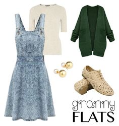 """""""Granny flats"""" by romaosorno ❤ liked on Polyvore featuring Dorothy Perkins and Yoko London"""
