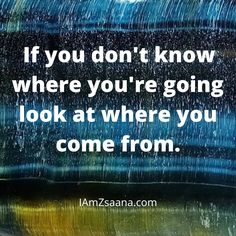 If you don`t know where you're going look at where you came from #quotes #iamzsaana #changeyourlife #loveanimals #lovepeople #lovelife #wombhealing #innerchild #shadowwork