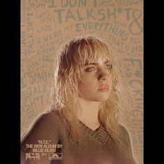 """morgan on Instagram: """"tried to convey the juxtaposition of the first and second half of the title track in this 🤎 @billieeilish :P . . #billieeilish #billie…"""" Graphic Wallpaper, Billie Eilish, Poster Wall, The One, Blonde Hair, Celebs, Track, Movie Posters, Walls"""