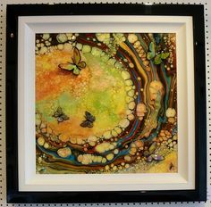 Tangerine Dream Original Butterfly Painting By Kevin http://www.arthouse-gallery.co.uk/epages/BT3958.sf/en_GB/?ObjectPath=/Shops/BT3958/Products/%22red%20splash%20kevin%20bandee%22Bandee