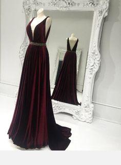 V-Neck Prom Dress,Long Prom Dresses,Charming Prom Dresses,Evening Dress Prom Gowns, Formal Women Dress,prom dress