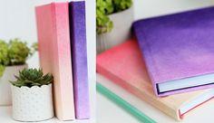 ideas decorar tus cuadernos degradado Creative Notebooks, Cool Notebooks, Tapas, Diy Notebook, Bookbinding, Back To School, Stationery, Cool Stuff, Purple
