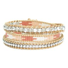 Bessie Smith Beaded Wrap Bracelet (2.545 RUB) ❤ liked on Polyvore featuring jewelry, bracelets, beading jewelry, leather jewelry, wrap bracelet, beaded bangles and leather wrap bracelet