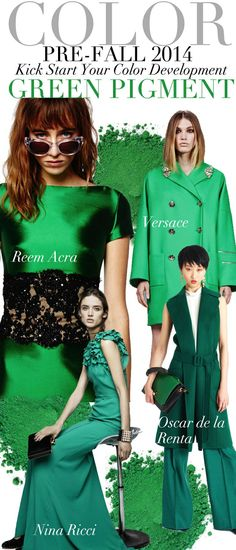 TREND COUNCIL- F/W 2014 #GREEN PIGMENT