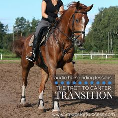 Do you managed to perform a 'clean' trot to canter transition every time? This transition is often one of the most difficult to maintain balance and rhythm, both for horse and rider, an… Riding Hats, Riding Helmets, Riding Clothes, Riding Gear, Trail Riding, Types Of Horses, Riding Lessons, English Riding, Equestrian Outfits