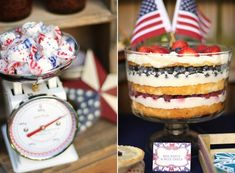 red, white, & blue trifle