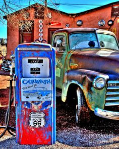 Old cars vintage abandoned route 66 34 new ideas Road 66, Route 66 Road Trip, Route 66 Arizona, Arizona Usa, Pompe A Essence, Old Gas Pumps, Historic Route 66, Old Gas Stations, Truck Art