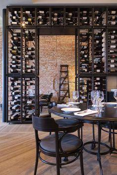 Enoteca Wine Bar/Restaurant Rotterdam on Behance Wine Shop Interior, Vintage Interior Design, Bar Interior, Room Interior, Wine Bar Restaurant, Restaurant Design, House Restaurant, Wine Bar Design, Bar A Vin