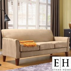 ETHAN HOME Uptown Collection Peat 3 Cushion Sofa | Overstock.com (For formal living area) $409.99