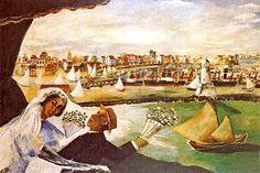 Recife lírica, década de 1930 Cícero Dias ( Brasil, 1907-2003) óleo sobre tela, 140 x 260 cm  Coleção Sylvia Dias, Paris