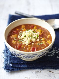 appledrane: Moroccan tomato & chickpea soup with couscous