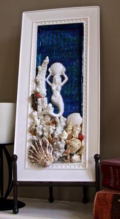 Submerged, Mermaid Mixed Media Assemblage, Mosaic Art, Mosaic Wall Art