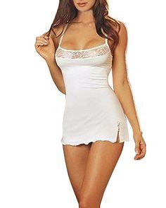 9bc07f0df3 ZANZEA Damen Spitze Lingerie Babydolls Nachtwäsche Dessous Set mit G-String Nachthemd  Kleid: - pyjama pyjamas frauen unterwäsche pyjamas womens pyjamaparty ...