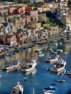 Procida, one of the Flegrean Islands off the coast of Naples, Italy