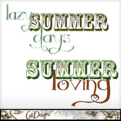 Summer Loving & Lazy Summer Days Printable Digital Wordarts Commercial Use Scrapbooking Clipart Instant Download. $1.49, via Etsy.