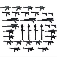 "BrickArms Custom 32 Piece 2.5"" Weapons Pack - Walmart.com"