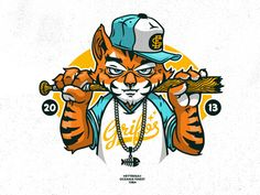 Tiger Hip Hop – Graffiti World Character Concept, Character Art, Character Design, Graffiti Drawing, Graffiti Art, Illustration Sketches, Graphic Illustration, Graffiti Characters, Tiger Design