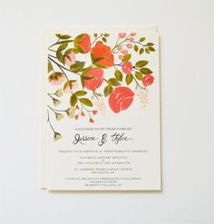bright and bold blossoms, pretty new design by the first snow