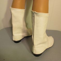 Vtg 60s/70s White Go Go Boots