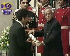 Sachin Ramesh Tendulkar received BharathaRathna today.