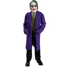 Child The Joker Costume : Get It On Fancy Dress Superstore, Fancy Dress & Accessories For The Whole Family. http://www.getiton-fancydress.co.uk/superheros/batmanrobin/childthejokercostume#.Uuuerfsry10