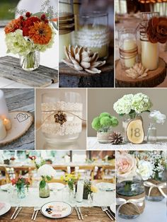Rustic decor- could use a couple of these ideas for the dorm room!