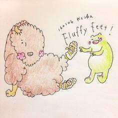 【Around midnight】fluffy sox! #bison #frog #animal #drawing #illustration #sox #warm #バイソン #かえる #動物 #おえかき #イラスト #靴下 #ふわふわ