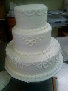 First wedding cake I did at dean's