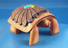 Zuni hand carved Large Cottonwood Turtle Fetish By Roderick Quam. $48.99 with Free Shipping. Just Click on the above picture to be taken to the Ebay listing.