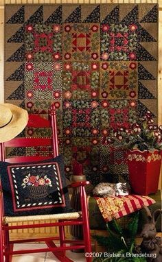 Gorgeous Reds here, especially the Quilt....