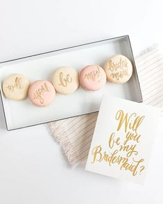 Cute Bridesmaid Proposal Idea Photo Courtesy of Laura Hooper Calligraphy. Asking Bridesmaids, Bridesmaids And Groomsmen, Will You Be My Bridesmaid, Groomsmen Proposal, Bridesmaid Proposal, Bridesmaid Gifts, Bridesmaid Ideas, Bridesmaid Dresses, Wedding Dresses