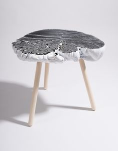 "THE PLASTIC MINE side table thier van daalen _ Year : 2016 Materials : Recycled polyethylene top and wooden legs. Size : W17,71"" D13,77"" H18,89"" ( W45 D35 H48 cm ) Excavated lumps of industrial plastic waste, translate into a unique and marbled range of side tables for in and outdoor. Thier van Daalen studio was fascinated by the unique, irregular shapes and beautiful bright colors found at a plastic tube processing at the the Netherlands. These org..."