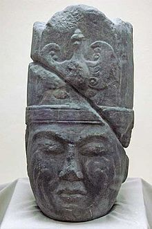 Marble head of the Gokturk general Kul Tigin (d. Found in Khashaat, Arkhangai prov. Owner: The National Museum of the Mongolian Republic, Ulan Bator World History Classroom, Turkic Languages, The Han Dynasty, Sumerian, National Museum, Ancient Art, Rugs On Carpet, Mythology, Sculptures