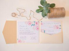 Design -Pastel Flowers- - Juhu Papeterie. Liebevoll gestaltete Postkarten & Grußkarten. Da freut sich der Briefkasten.