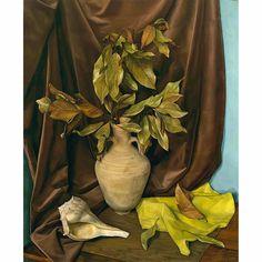 """Nostalgic Echoes,"" Luigi Lucioni, 1954, oil on canvas, 34 1/8 x 28 1/8"", private collection."