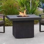 Real Flame Ventura 36 in. Fiber-Concret Square Propane Gas Fire Table in Kodiak Brown