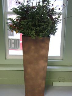 """Planter is 47"""" tall and can be done in any color powder coat $150.00. Can have done smaller or larger to suit your needs"""