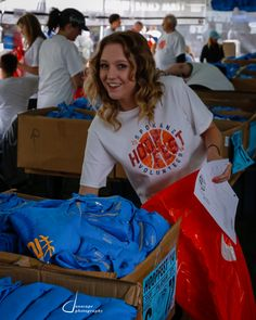 The shirts are dry and teams are checking in #hoopfest25 -  Daniel Baumer Photographer