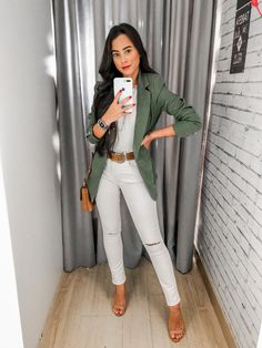 Basic Outfits, Summer Outfits, Casual Outfits, Fashion Outfits, Womens Fashion, Street Style Trends, Street Style Women, Ropa Semi Formal, Casual Office Wear