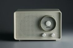 One of Braun's many iconic designs, and a huge influence on Apple's aesthetics: a radio by Deiter Rams