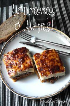 Το κορυφαίο φαγητό της Ελληνικής παραδοσιακής κουζίνας. Το σήμα κατατεθέν της Ελληνικής γαστρονομίας στο εξωτερικό. Δεν υπάρχει επισκέπτης στην χώρα μας που να μην γνωρίζει τον μουσακά, δεν υπάρχει τουρίστας που δεν έρχεται προετοιμασμένος να γευτεί αυτό το αριστουργηματικό πιάτο. Η επιτυχία του έγκειται στον κορυφαίο συνδυασμό των υλικών του που προσφέρει απόλυτη γευστική ισορροπία. Οι στρώσεις μελιτζάνας, πατάτας και κιμά που σκεπάζονται από μια υπέροχα ροδοψημένη και γκρατιναρισμένη μπεσαμ... Cookbook Recipes, Cooking Recipes, Appetisers, Greek Recipes, Eggplant, Appetizer Recipes, French Toast, Sweet Home, Pasta