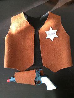 Chaleco y funda de pistola para disfraz de vaquero para carnaval 2016